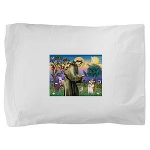 St Francis / Welsh Corgi (p) Pillow Sham
