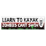 Learn To Kayak - Zombies Can't Swim Bumper Sti