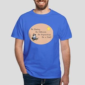 Be Daring on Brown Circle Dark T-Shirt