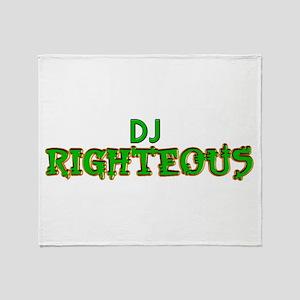 DJ Righteous Logo Throw Blanket