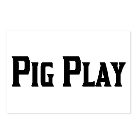 PIG PLAY/BLACK TEXT Postcards (Package of 8)