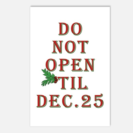 Do not open 'til Dec. 25 saying Postcards (Package