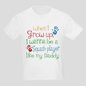Squash Player Like Daddy Kids Light T-Shirt