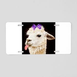 Alpaca or LLama? Aluminum License Plate