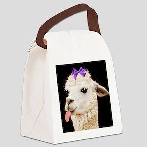 Alpaca or LLama? Canvas Lunch Bag