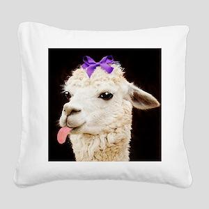 Alpaca or LLama? Square Canvas Pillow