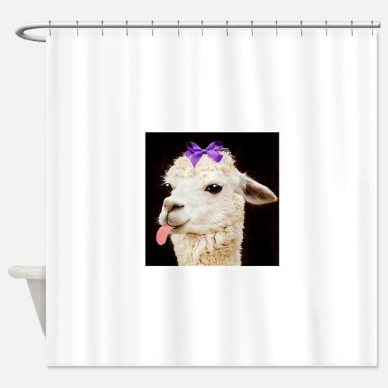 Alpaca or LLama? Shower Curtain