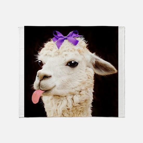 Alpaca or LLama? Throw Blanket
