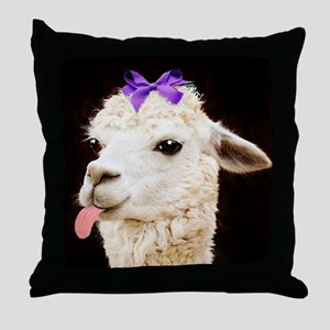 Alpaca or LLama? Throw Pillow