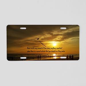 Siesta Sunset Aluminum License Plate