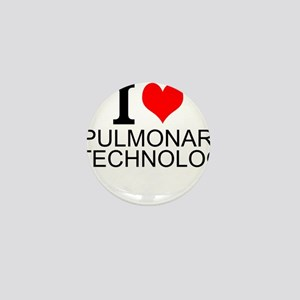 I Love Pulmonary Technology Mini Button