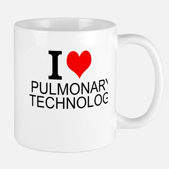I Love Pulmonary Technology Mugs