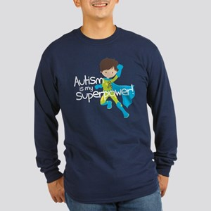 Autism Superpower Long Sleeve Dark T-Shirt