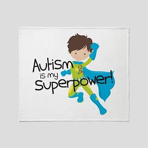 Autism Superpower Throw Blanket