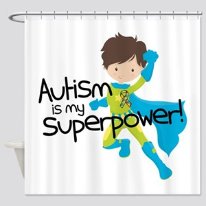 Autism Superpower Shower Curtain
