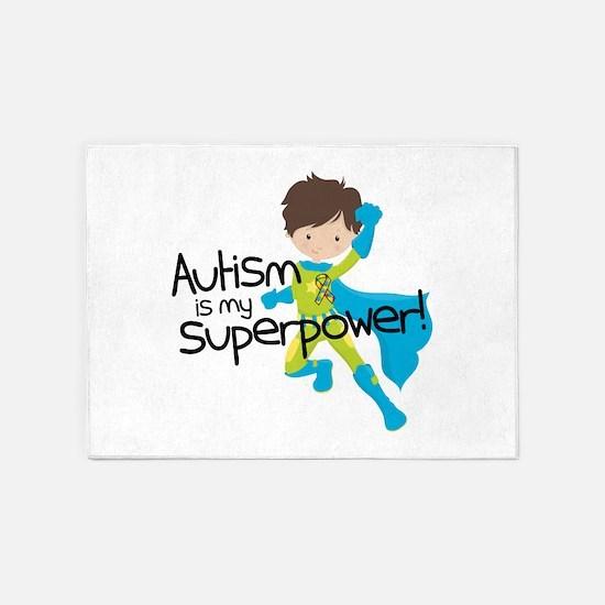 Autism Superpower 5'x7'Area Rug