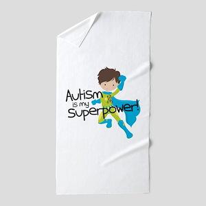 Autism Superpower Beach Towel