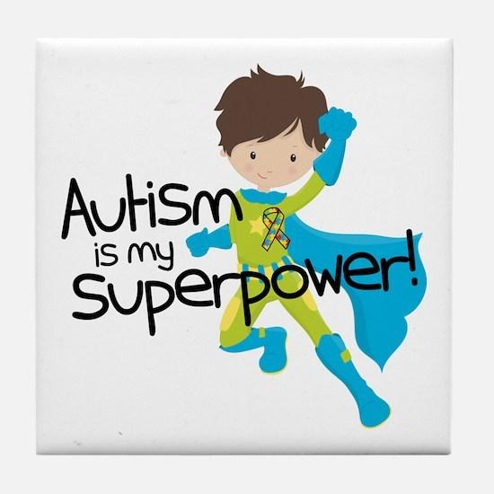 Autism Superpower Tile Coaster