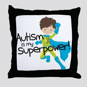 Autism Superpower Throw Pillow