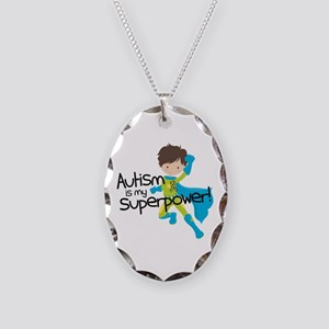 Autism Superpower Necklace Oval Charm