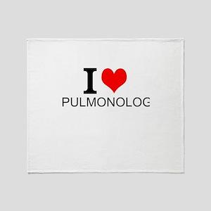 I Love Pulmonology Throw Blanket