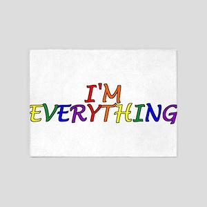 I'm Everything 5'x7'Area Rug