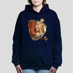 Squirrel Girl Nuts Women's Hooded Sweatshirt