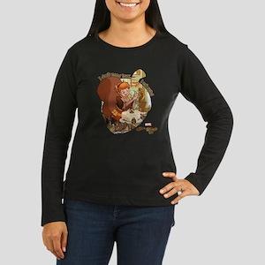 Squirrel Girl Nut Women's Long Sleeve Dark T-Shirt