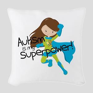 Autism Superpower Woven Throw Pillow
