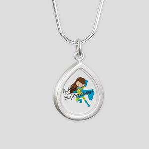 Autism Superpower Silver Teardrop Necklace