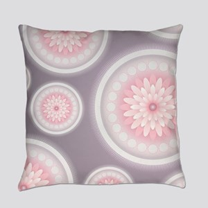 Abstract Floral Mandala Pattern Everyday Pillow