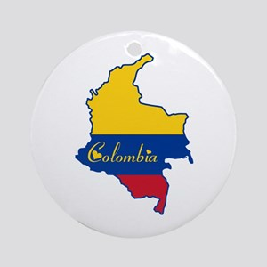 Cool Colombia Ornament (Round)