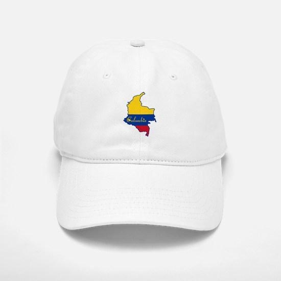 Cool Colombia Baseball Baseball Cap