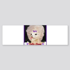 Dolly Llama Bumper Sticker