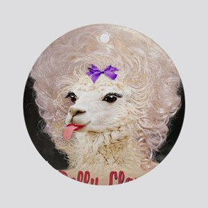 Dolly Llama Round Ornament