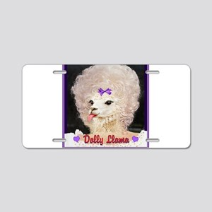 Dolly Llama Aluminum License Plate