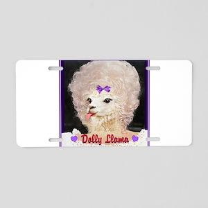 Dolly Llama Aluminum License Plate