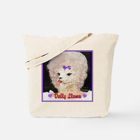 Dolly Llama Tote Bag