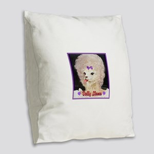 Dolly Llama Burlap Throw Pillow