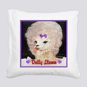 Dolly Llama Square Canvas Pillow