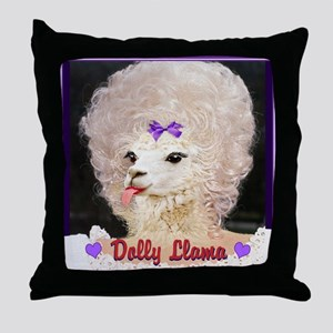 Dolly Llama Throw Pillow