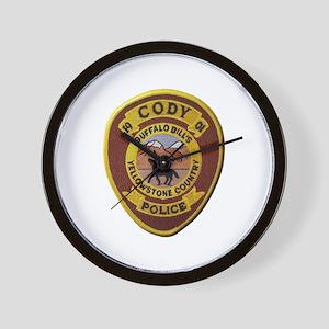 Cody Wyoming Police Wall Clock