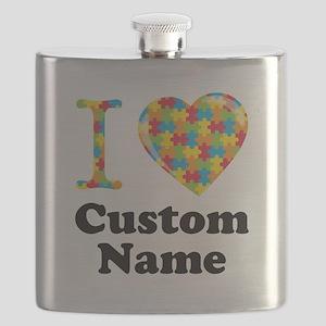 Autism Heart Flask