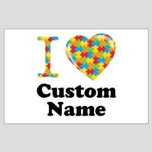 Autism Heart Large Poster