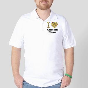 Autism Heart Golf Shirt