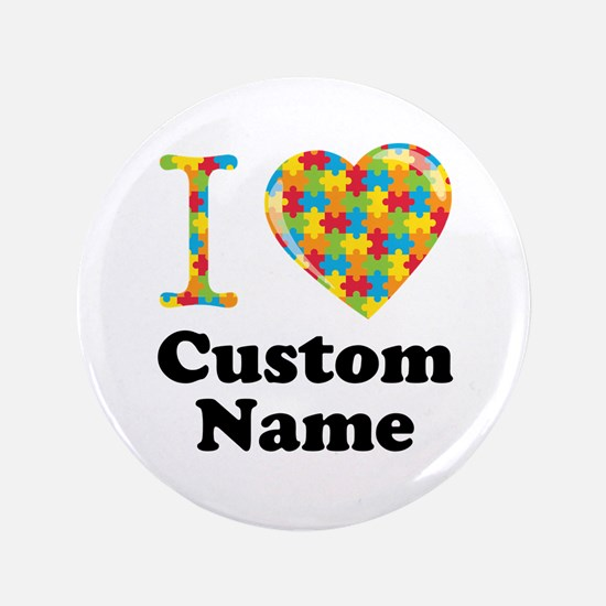"""Autism Heart 3.5"""" Button (100 pack)"""