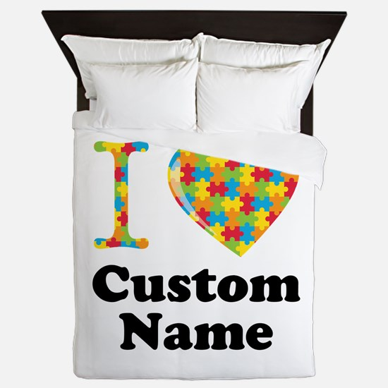 Autism Heart Queen Duvet