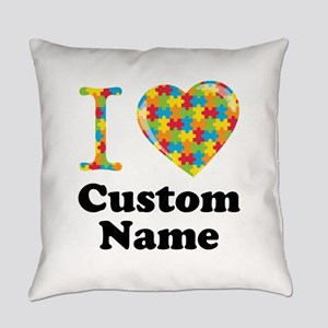 Autism Heart Everyday Pillow