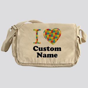 Autism Heart Messenger Bag