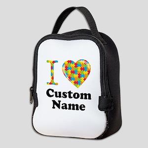 Autism Heart Neoprene Lunch Bag